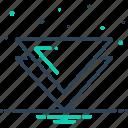 application, arrow, down, drill, website icon
