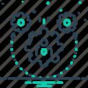cogwheel, dynamism, setting, stabilize