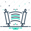edict, ordinance, rescript, royal, scroll icon