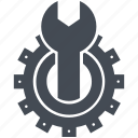 cog, gear, optimization, repair, support, technical support icon