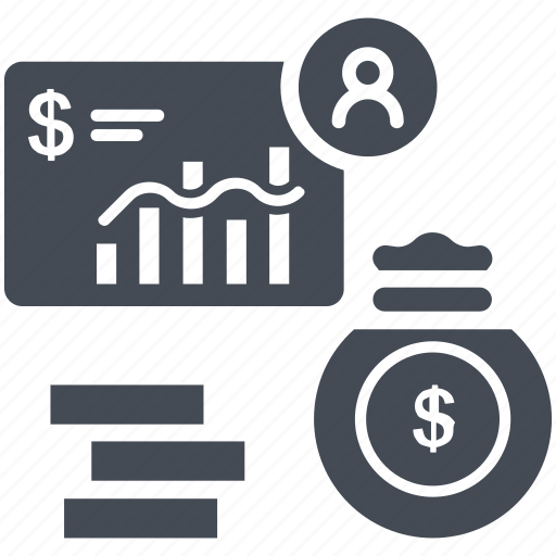 dollar, finance, graph, investment, payment, statistics icon