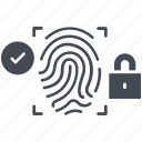 cyber, cyber security, fingerprint, protection, security icon