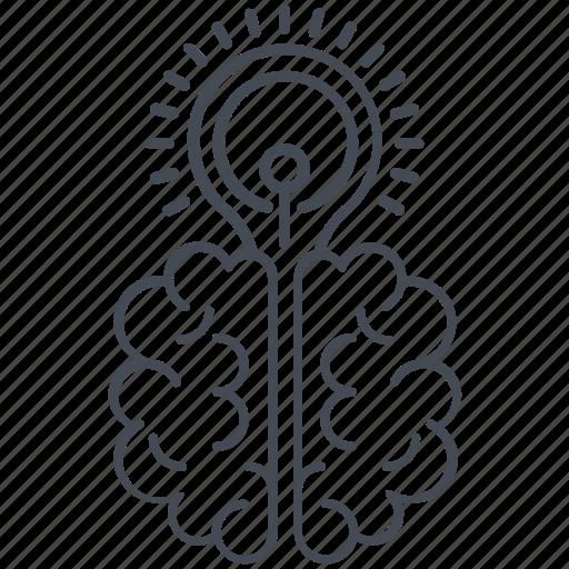 brain, creative, idea icon