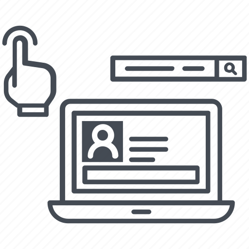account, computer, internet, monitor, system, website icon