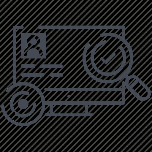 analytics, eye, monitoring, reports, screen icon