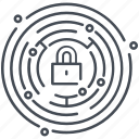 cyber security, lock, padlock, security, web security icon