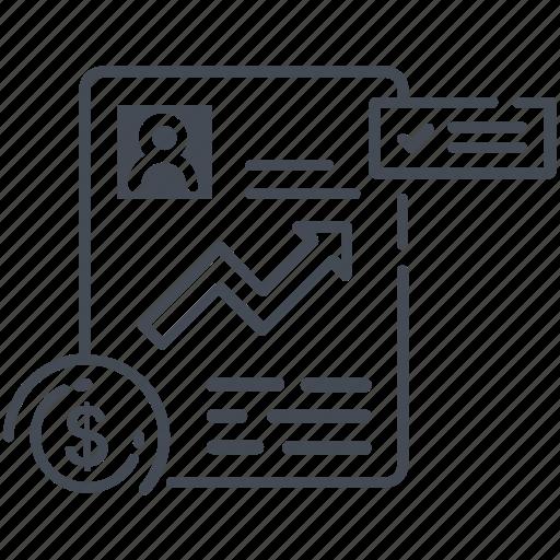 analytics, finance, financial, financial report icon