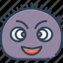 curly, emoji, frizzy, funny, fuzzy, ringlety icon