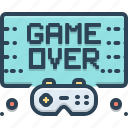 controller, finish, game, gameover, technology, video, videogame