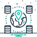 geospatial, gps, information, locations icon