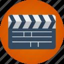 clapper, film, movie, video