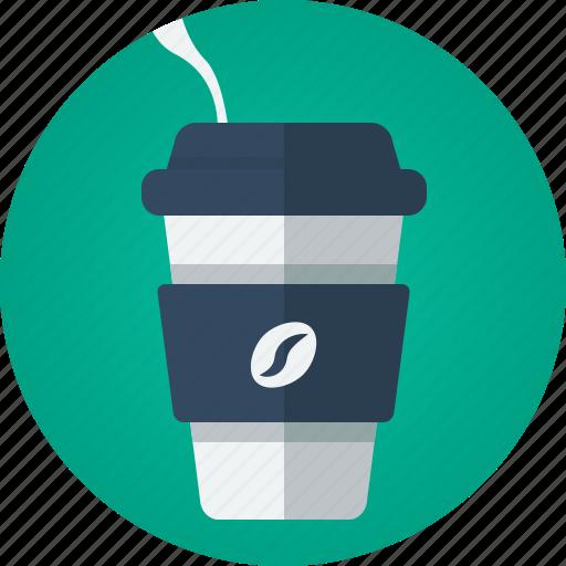 café, coffee, drink, hot drink, smoke, takeaway, takeaway coffee icon