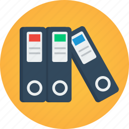 data, documents, files, folders, portfolio icon