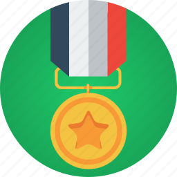 badge, gold, medal, medallion, reward, star, win, winner icon