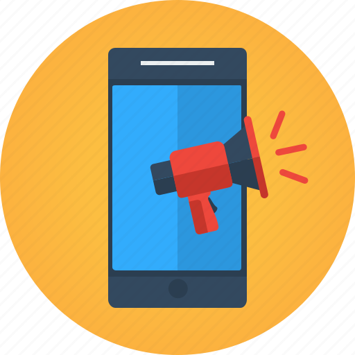 app, buzz, communication, marketing, megaphone, mobile, mobile app, mobile marketing, social media, talk, viral icon