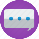 app, bubble, chat, discuss, instant messaging, instant messenger, speak, speech, speech bubble, talk, tchat icon