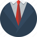 business, cloth, clothing, costume, ensemble, outfit, shirt, suit, tie, vest icon