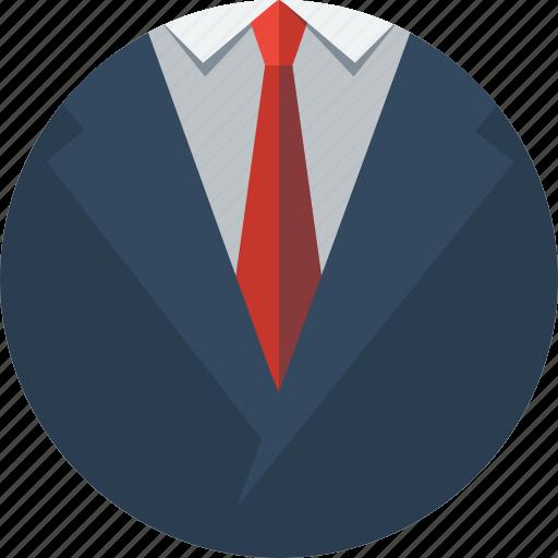 business, cloth, clothing, costume, ensemble, outfit, shirt, suit, tie, vest icon
