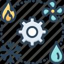 air conditioning, comfort, heating, hvac, technician, vehicular, ventilation icon