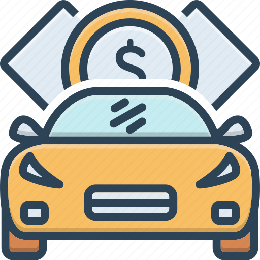 Borrow, car, debt, indebtedness, loan, loaning, minus icon - Download on Iconfinder