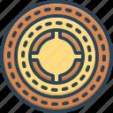 annular, circinate, circular, discoid, rotund, round