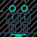 buddy, chum, colleague, friend, group icon