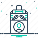 clamp, depress, press, squeeze, stifle, straining icon