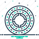 annular, circinate, circular, discoid, rotund, round icon