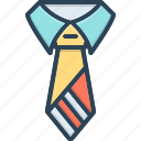 tie, accessory, garment, dress, necktie, official icon