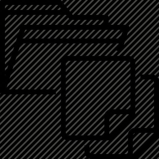 document, dossier, files, folder, storage icon