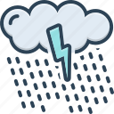 cloud, drop, rain, raindrop, rainfall, waterfall, weather