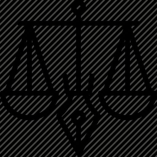 Balance, judgment, justice, legality, legitimacy, punishment icon - Download on Iconfinder