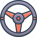 drive, steering, wheel icon