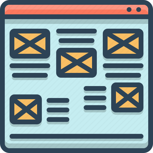 Bad, layout, ugly, unorganized, webpage, website icon - Download on Iconfinder