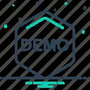 demo, demonstration, exhibition icon