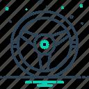drive, steering, wheel icon