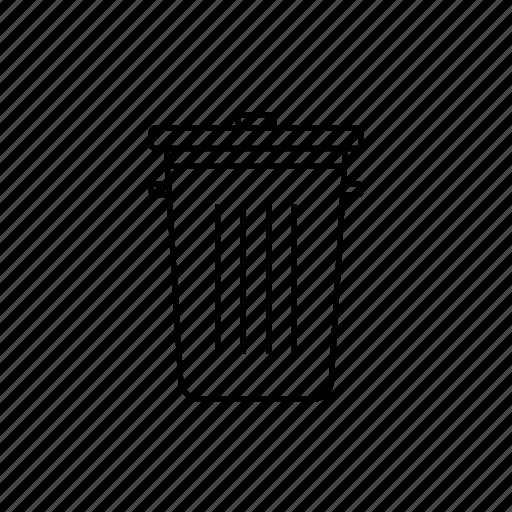 can, del, delete, misc, trash, trash can icon