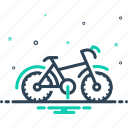 bicycle, bike, cyclist, motorcycle, transportation, travel, vehicle icon
