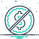 commercial, label, liberated, tag icon