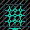 design, geometric, grid, guide, pattern, square, texture icon