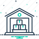 cargo, industry, interior, logistics, storage, transportation, warehouse icon
