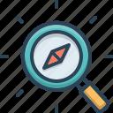 compass, discover, explorer, magnifier, optimization, search