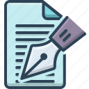 document, editorial, notes, paper, writer icon