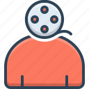 film, footage, movie, multimedia, strip, video icon