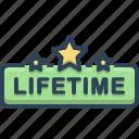 lifetime, badge, label