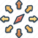 compass, direction, location, map, navigation, orientation