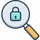 browse, magnifier, safe, search, security