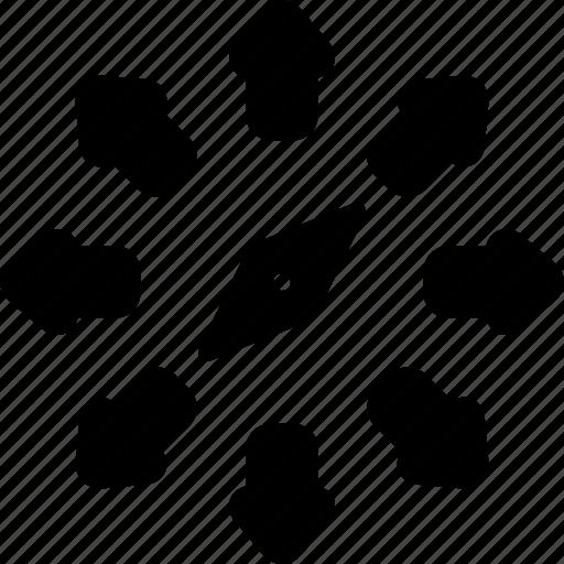 compass, map, orientation icon