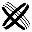 abstract, logo, multimbeam, x