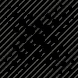 abstract, circles, x icon
